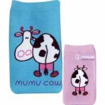 4048585818708 : MUMU COW : HANDYSOCKEN - FRONT AND BACK [SIZE 16,5 CM X 6,5 CM X 0,5 CM] - BLAU